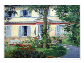 Póster  Country house in Rueil - Edouard Manet