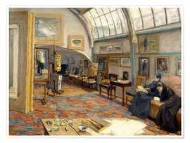 Póster  The Artist's Studio - Max Liebermann