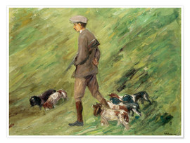 Póster  Hunter in the Dunes - Max Liebermann