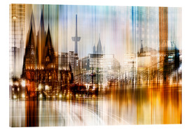 Cuadro de metacrilato  Germany Collonge Köln skyline - Städtecollagen