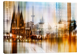 Lienzo  Germany Collonge Köln skyline - Städtecollagen