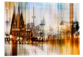 Cuadro de PVC  Germany Collonge Köln skyline - Städtecollagen