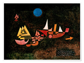 Póster  Ships setting Sail - Paul Klee