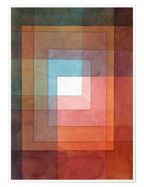 Póster  White Framed Polyphonically - Paul Klee