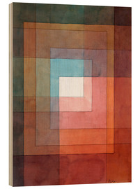 Madera  White Framed Polyphonically - Paul Klee