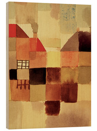 Cuadro de madera  Northern Town - Paul Klee
