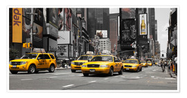 Póster  New York City -Yellow Cabs - Hannes Cmarits
