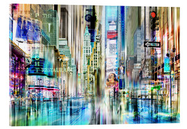Cuadro de metacrilato  Collage de Nueva York, Times Square - Städtecollagen