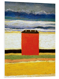 Cuadro de PVC  The red house - Kasimir Sewerinowitsch  Malewitsch