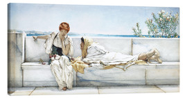 Lienzo  A Question - Lawrence Alma-Tadema