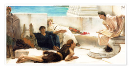 Póster  A reading from Homer - Lawrence Alma-Tadema