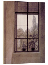 Cuadro de madera  Window w.view o.park - Caspar David Friedrich