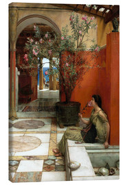 Lienzo  The Oleander - Lawrence Alma-Tadema