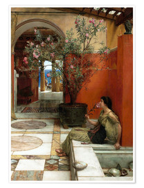 Póster  The Oleander - Lawrence Alma-Tadema
