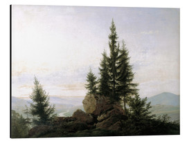 Cuadro de aluminio  View into the Elbe valley - Caspar David Friedrich