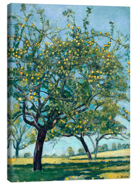 Lienzo  Paddock with apple trees - Ferdinand Hodler