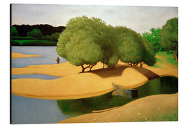 Cuadro de aluminio  Sandbanks on the Loire - Felix Edouard Vallotton