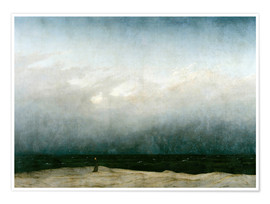 Póster  Monk by the Sea - Caspar David Friedrich