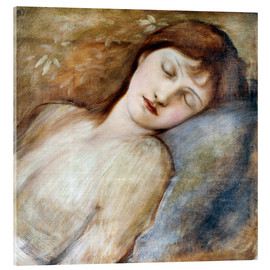 Cuadro de metacrilato  Sleeping Princess - Edward Burne-Jones
