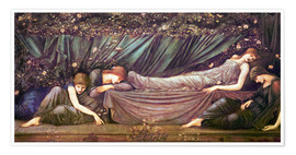 Póster  Briar Rose - The Rose Bower - Edward Burne-Jones