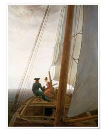 Póster  On the Sailing ship - Caspar David Friedrich