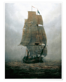 Caspar David Friedrich - Sailing ship in the fog