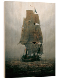 Madera  Sailing ship in the fog - Caspar David Friedrich