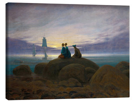 Lienzo  Moonrise by the Sea - Caspar David Friedrich