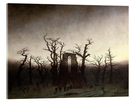 Metacrilato  The Abbey in the Oakwood - Caspar David Friedrich