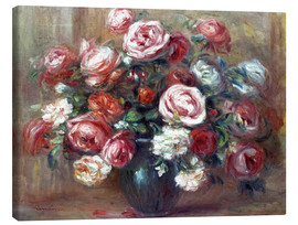 Lienzo  Still life with roses - Pierre-Auguste Renoir