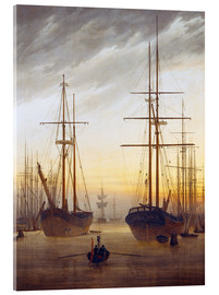 Metacrilato  View of a harbor - Caspar David Friedrich