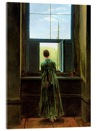 Metacrilato  Woman at the window - Caspar David Friedrich