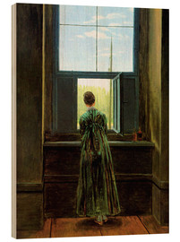 Madera  Woman at the window - Caspar David Friedrich