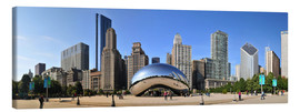 Lienzo  Panorama Millenium Park en Chicago con Cloud Gate - HADYPHOTO by Hady Khandani