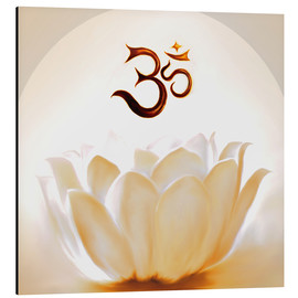 Aluminio-Dibond  Lotus with Om - Christine Ganz