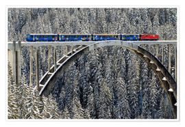 Póster Arosa train | Langwies Viaduct