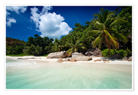 Póster Beautiful Beach Seychelles 3