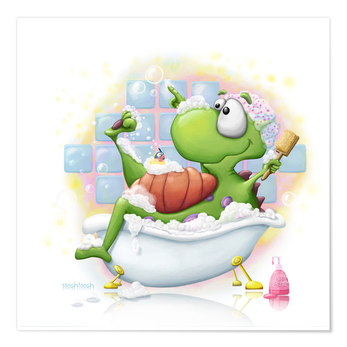 Póster bubble bath