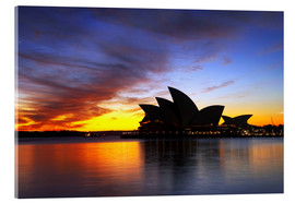 Cuadro de metacrilato  Sydney Opera House at Dawn - David Wall