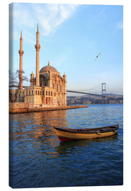 Lienzo  Rowboat and Ortaköy Mosque - Ali Kabas