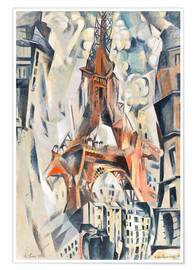 Póster  The Eiffel Tower - Robert Delaunay