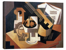 Lienzo  Guitar and fruit bowl - Juan Gris