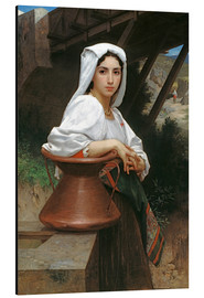 Cuadro de aluminio  Young Italian Girl at a well - William Adolphe Bouguereau