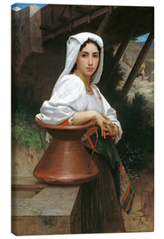 Lienzo  Young Italian Girl at a well - William Adolphe Bouguereau
