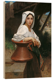 Cuadro de madera  Young Italian Girl at a well - William Adolphe Bouguereau