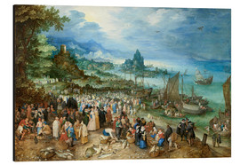 Cuadro de aluminio  Seaport with Christ's Sermon - Jan Brueghel d.Ä.