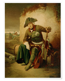 Póster Frederick the Great after the battle of Collin