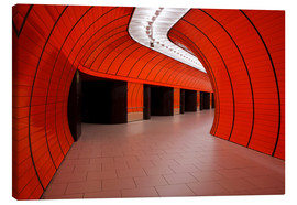 Lienzo  Subway station at Marienplatz, Munich - Dennis Flaherty