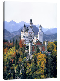 Lienzo  Neuschwanstein Castle in autumn - Ric Ergenbright