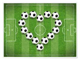 Póster Love for Soccer